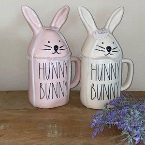 Rae Dunn BUNNY EARS HUNNY BUNNY mug set